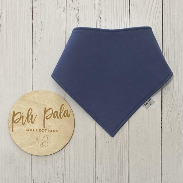 Pili Pala Collections - Dusty Blue Dribble Bib