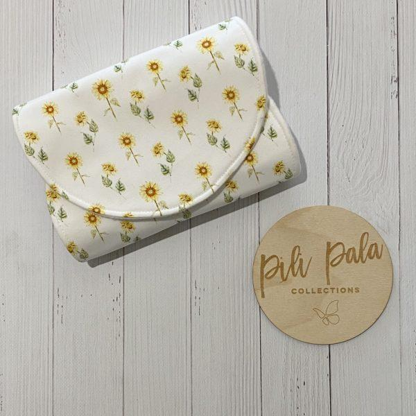 Pili Pala Collections - Sunny Mini Contoured Burp Cloth