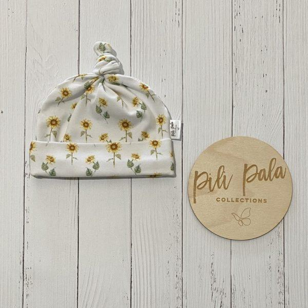 Pili Pala Collections - Sunny (mini) Top Knot Beanie