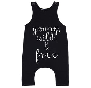 MLW By Design - Young Wild & Free Slouch Romper | Black