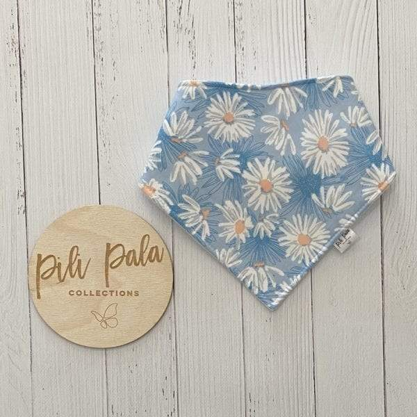 Pili Pala Collections - Daisy Blue Dribble Bib