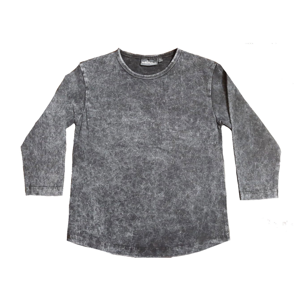 MLW By Design - Basic Long Sleeve Stonewash Top