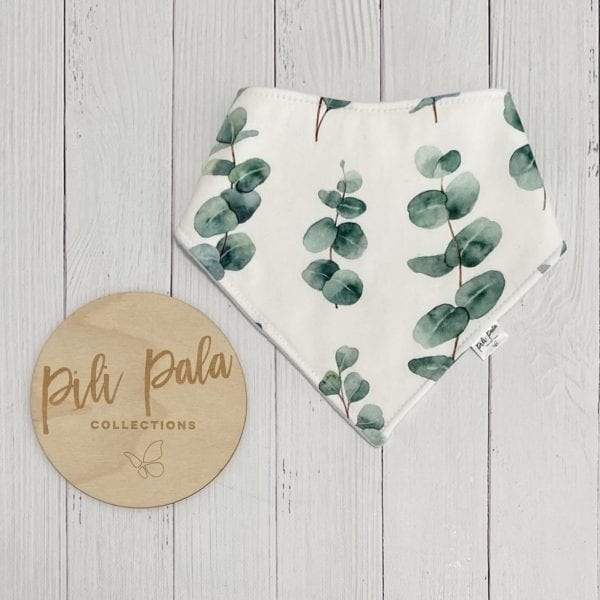 Pili Pala Collections - Eucalyptus Leaf Dribble Bib