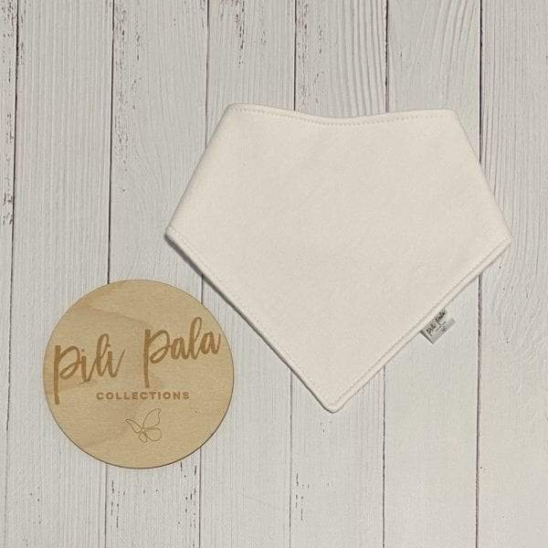 Pili Pala Collections - White Dribble Bib