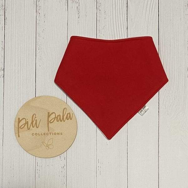 Pili Pala Collections - Christmas Red Dribble Bib