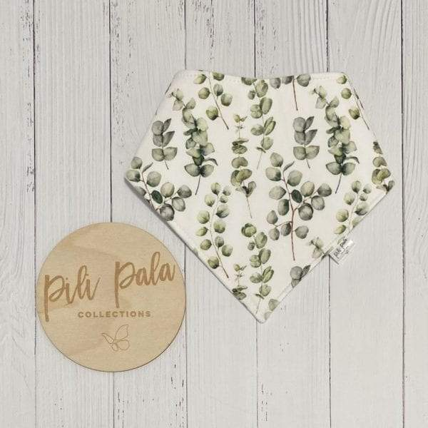 Pili Pala Collections - Eucalyptus Leaf Mini Dribble Bib