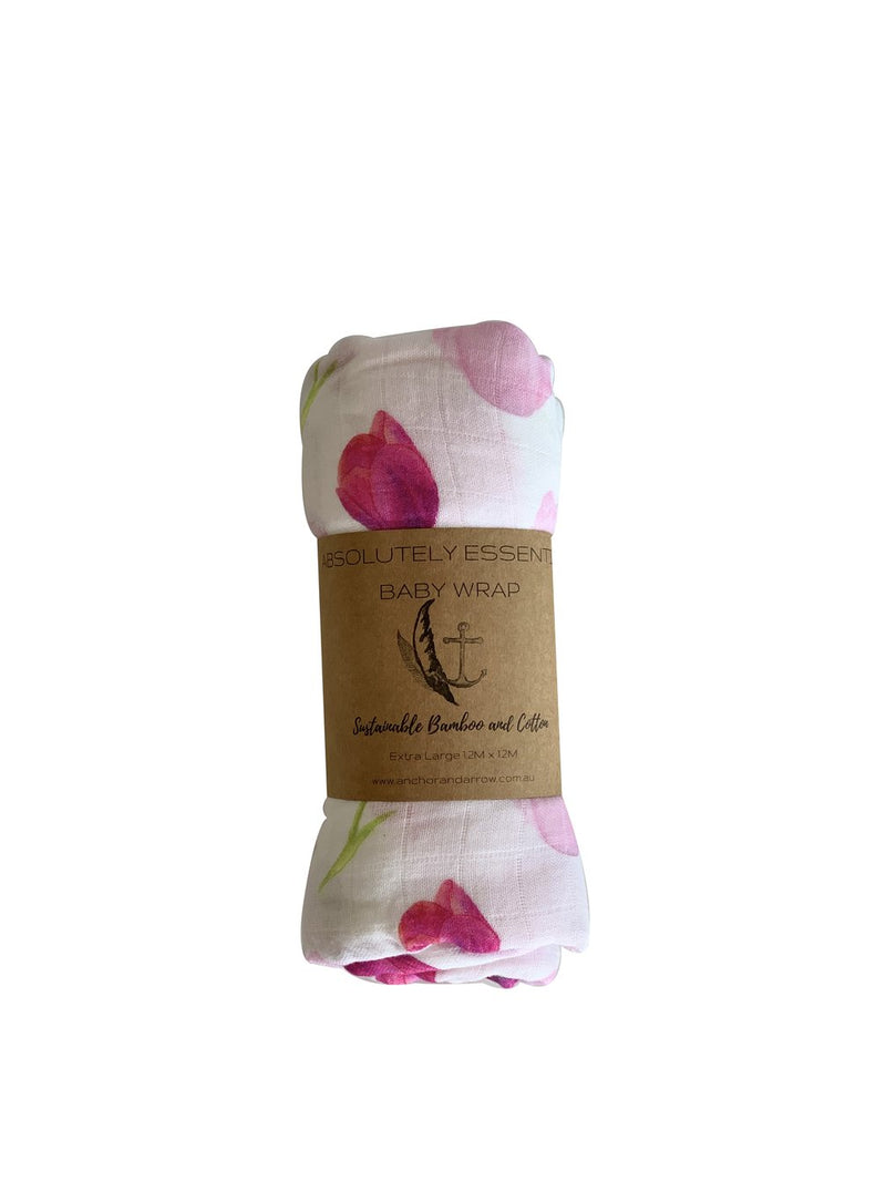 Anchor & Arrow - 'Love Tulips' baby swaddle