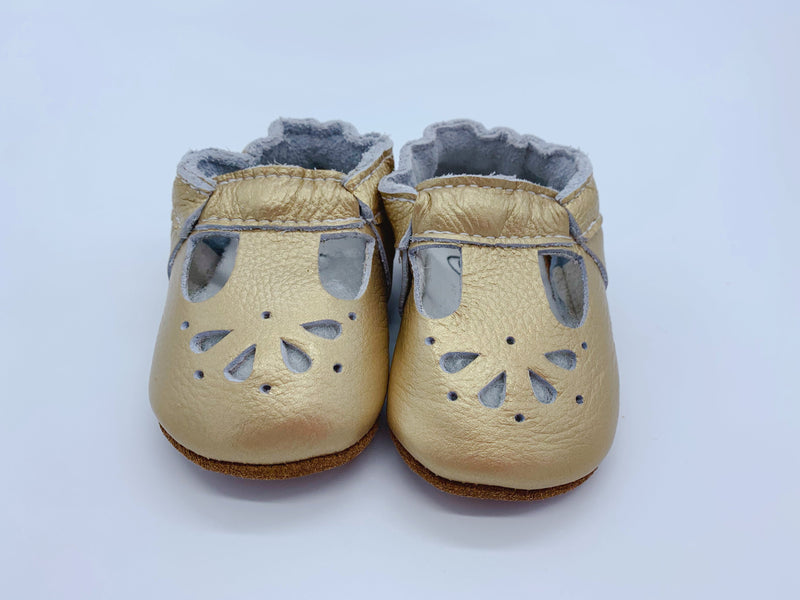 Little Secret Co - Baby Shoes Daisy - Gold