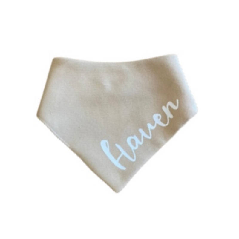MLW By Design - Personalised Name Bib | Sand