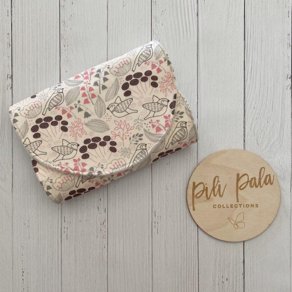 Pili Pala Collections - Birds Contoured Burp Cloth