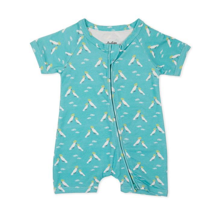 Indigo & Lellow - Cockatoo Short Romper