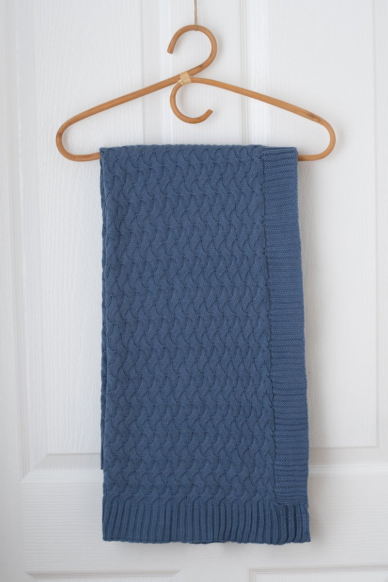 Kute Cuddles - Faith Knit Baby Blanket - River