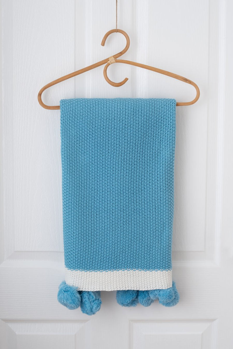 Kute Cuddles - Maize Knit Baby Blanket - Ocean