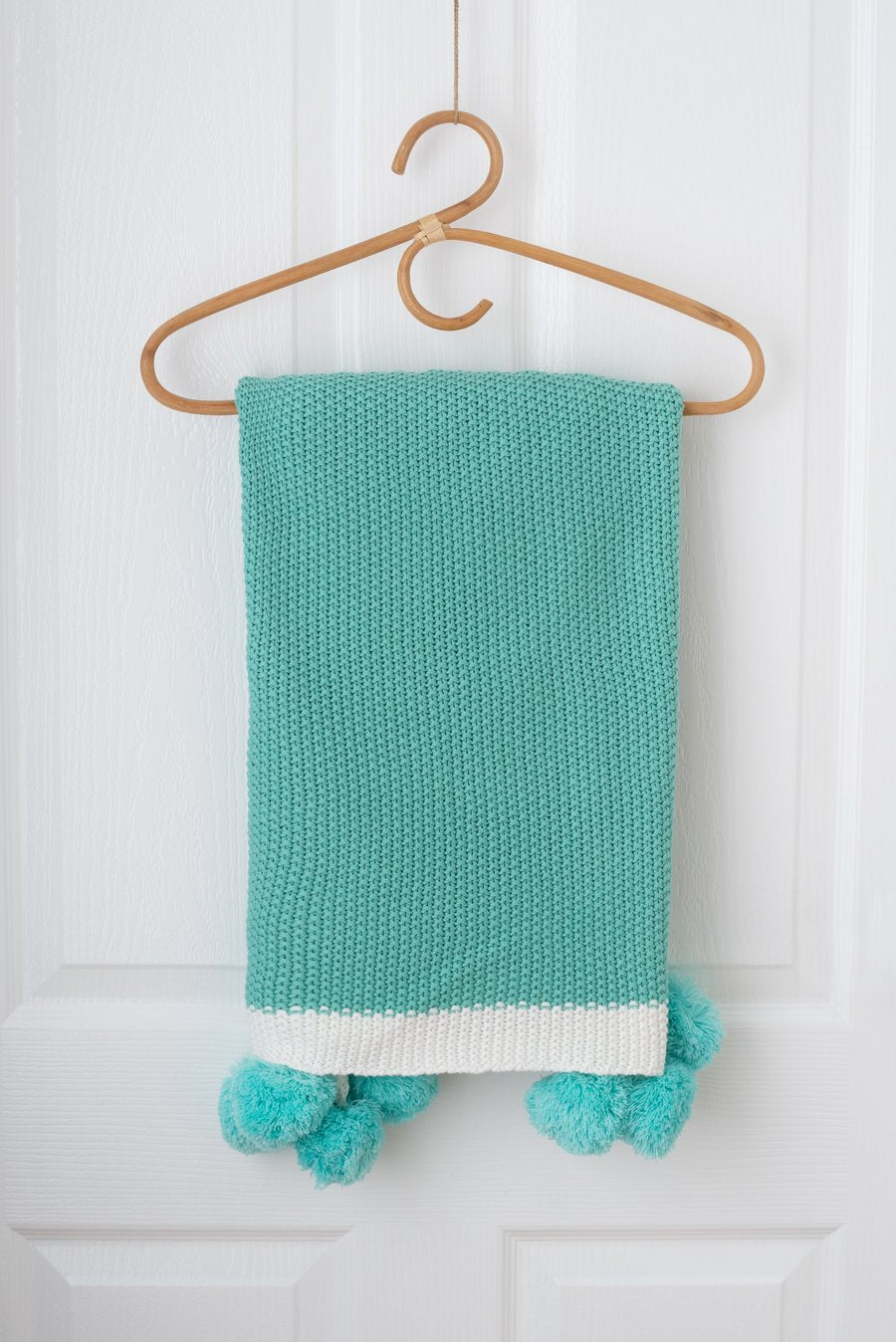 Kute Cuddles - Maize Knit Baby Blanket - Mint