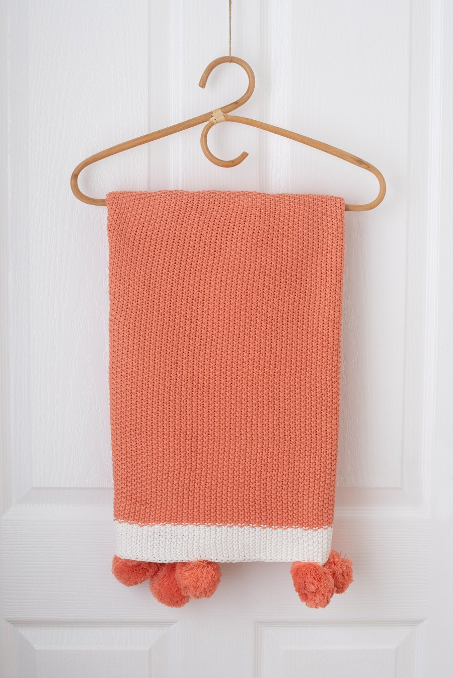 Kute Cuddles - Maize Knit Baby Blanket - Coral