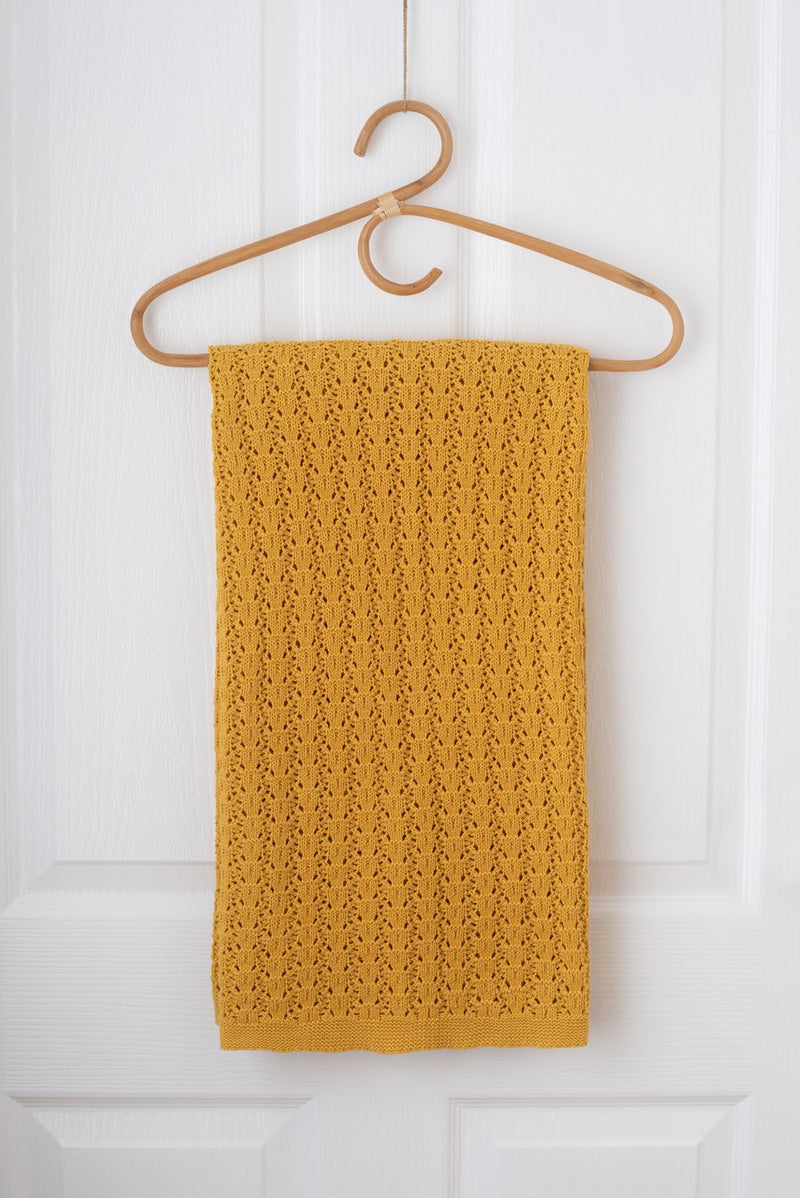Kute Cuddles - Wish Knit Baby Blanket - Mustard