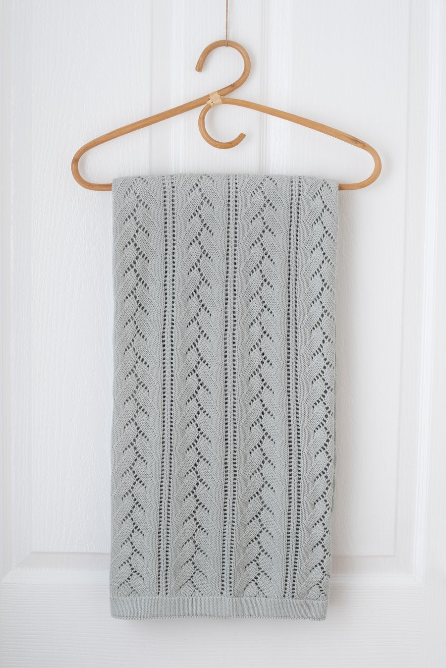 Kute Cuddles - Bloom Knit Baby Blanket -  Sage