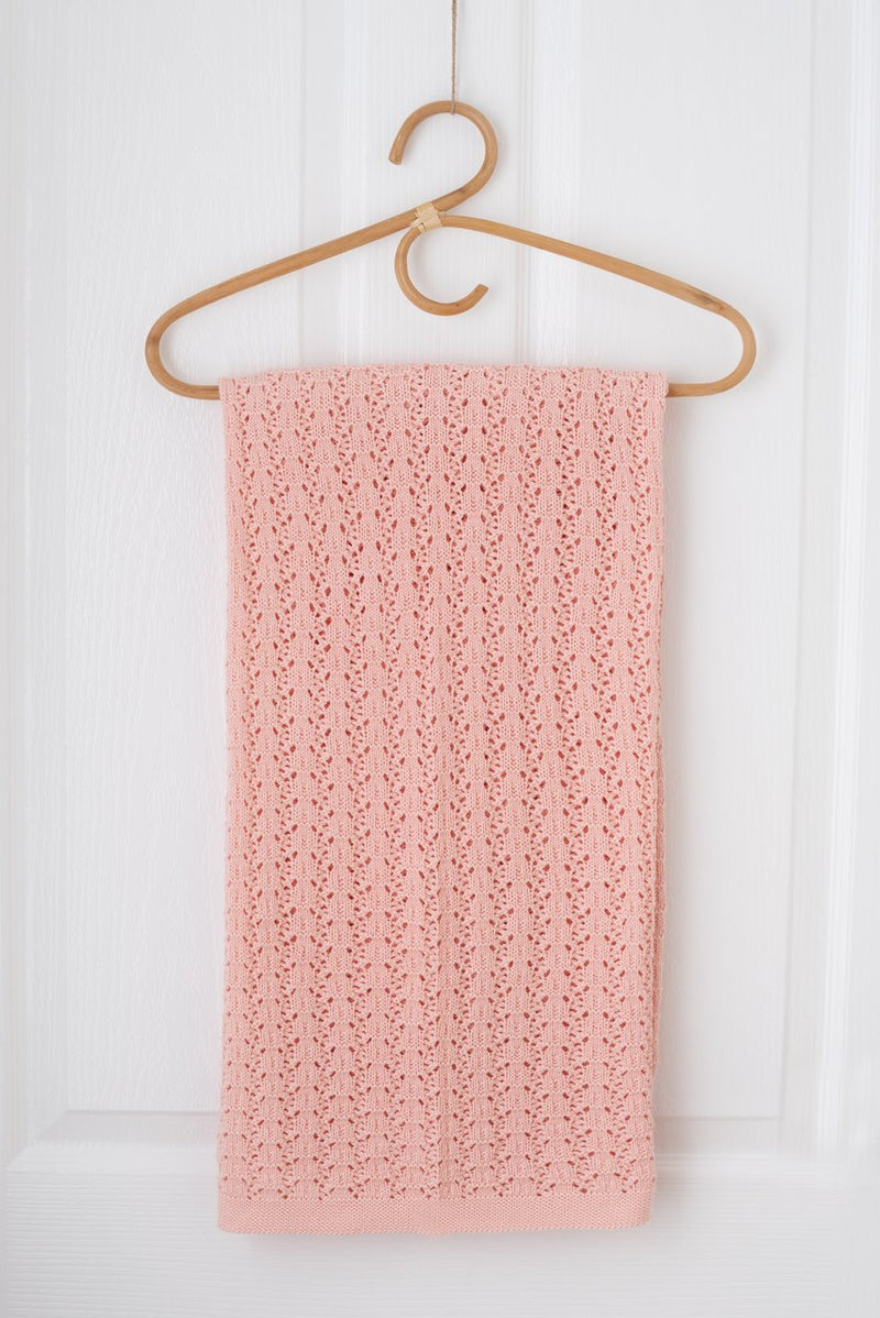 Kute Cuddles - Wish Knit Baby Blanket - Pale rose