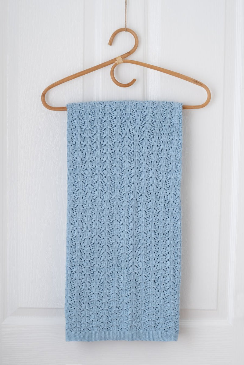 Kute Cuddles - Wish Knit Baby Blanket - Sky