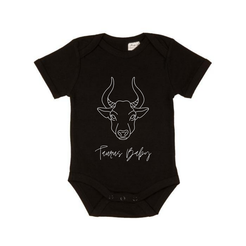 MLW By Design - Taurus Baby Short Sleeve Bodysuit | Black
