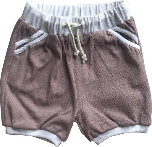 Living By The Coastline -  MAUVE SHORTS | RIBBED BASICS 100% ORGANIC COTTON