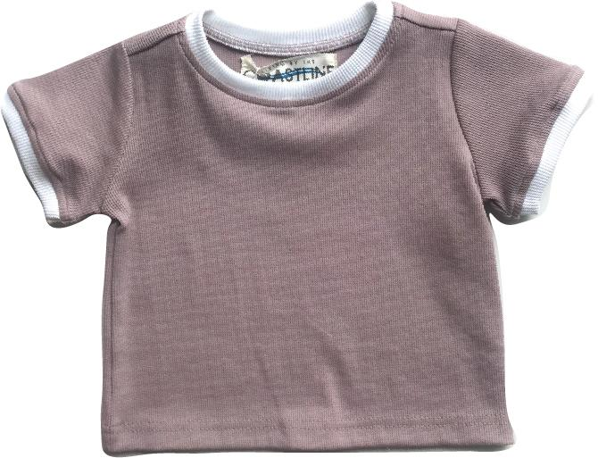 Living By The Coastline - MAUVE TOP | RIBBED BASICS 100% ORGANIC COTTON