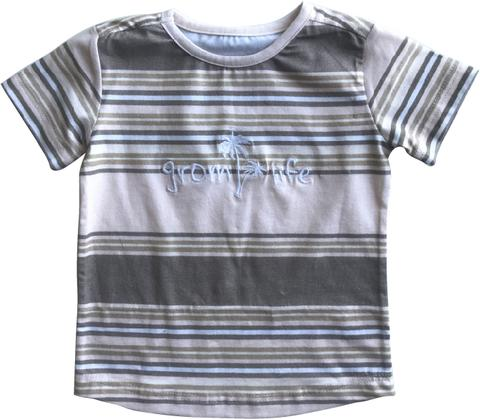 Living By The Coastline - GROM STRIPED T-SHIRT - NATURAL
