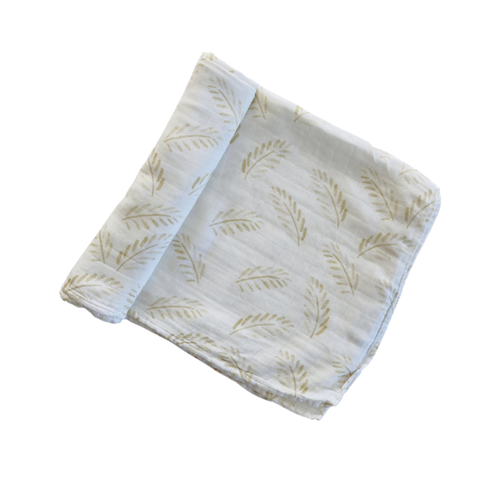 "Anchor & Arrow - ""Gold Fern"" Organic Baby Swaddle"