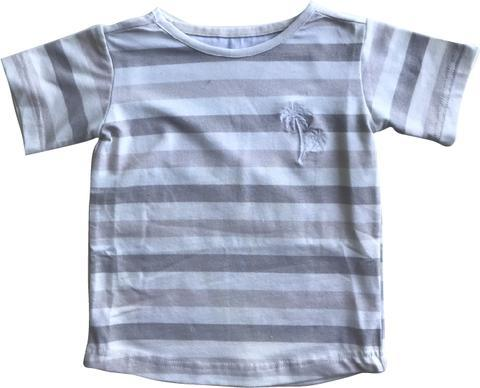 Living By The Coastline - GROM STRIPED T-SHIRT - SANDY