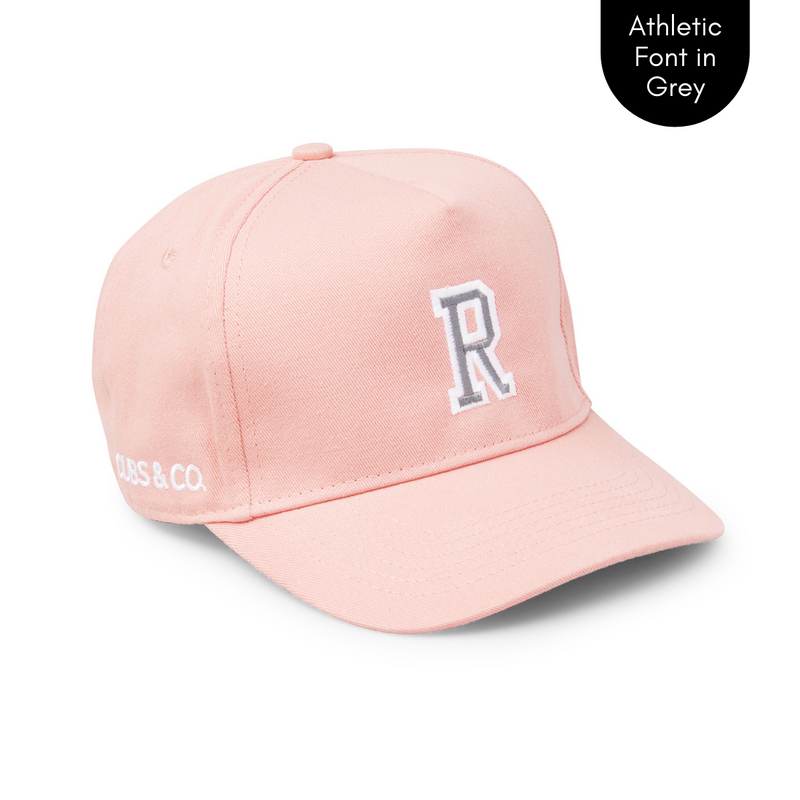 Cubs & Co - PERSONALISED PINK W/ INITIALS | ATHLETIC GREY FONT