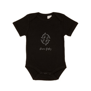 MLW By Design - Pisces Baby Short Sleeve Bodysuit | Black