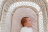 "Anchor & Arrow - ""Pink Palm"" Bassinet sheet"