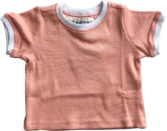 Living By The Coastline - SALMON TOP | RIBBED BASICS 100% ORGANIC COTTON