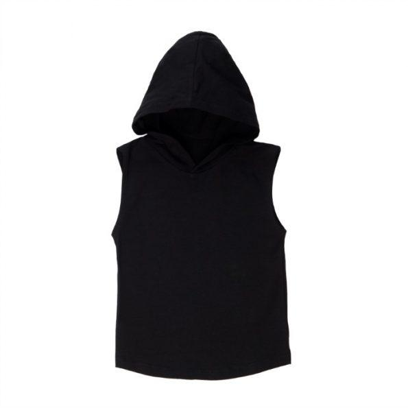MLW By Design - Basic Sleeveless Hoodie | Black
