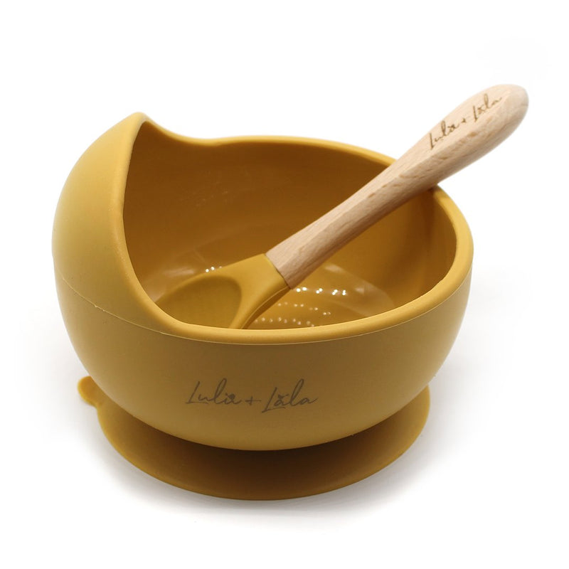 Lulu & Lala - Suction Bowl + Spoon Set | Mustard