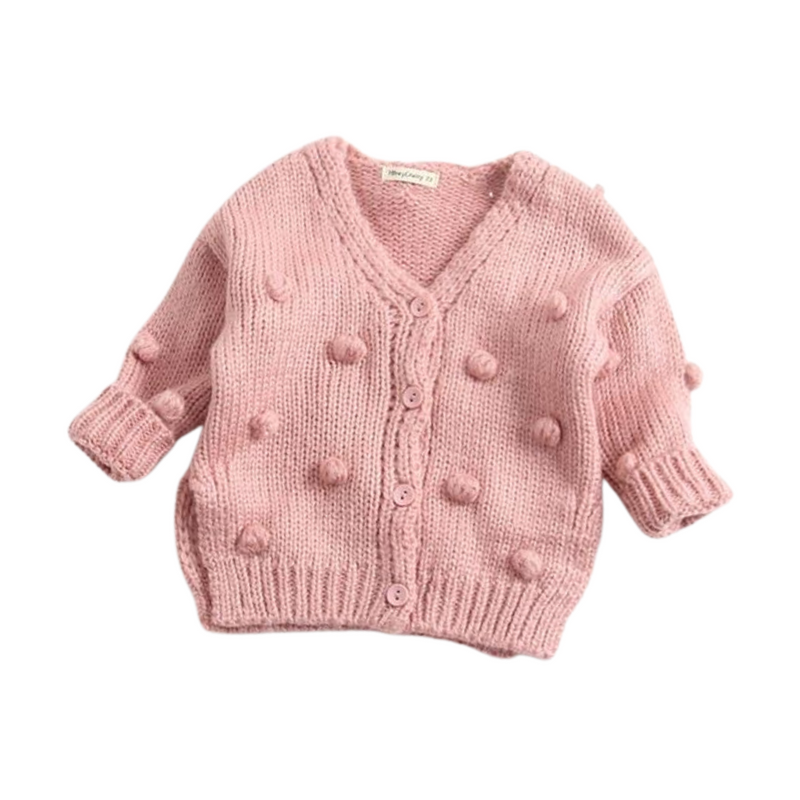 Dotty Knit Cardigan | Pink