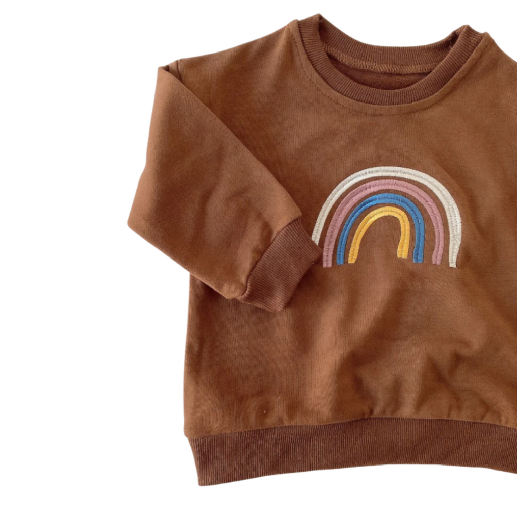 Rainbow Colourful Jersey | Brown
