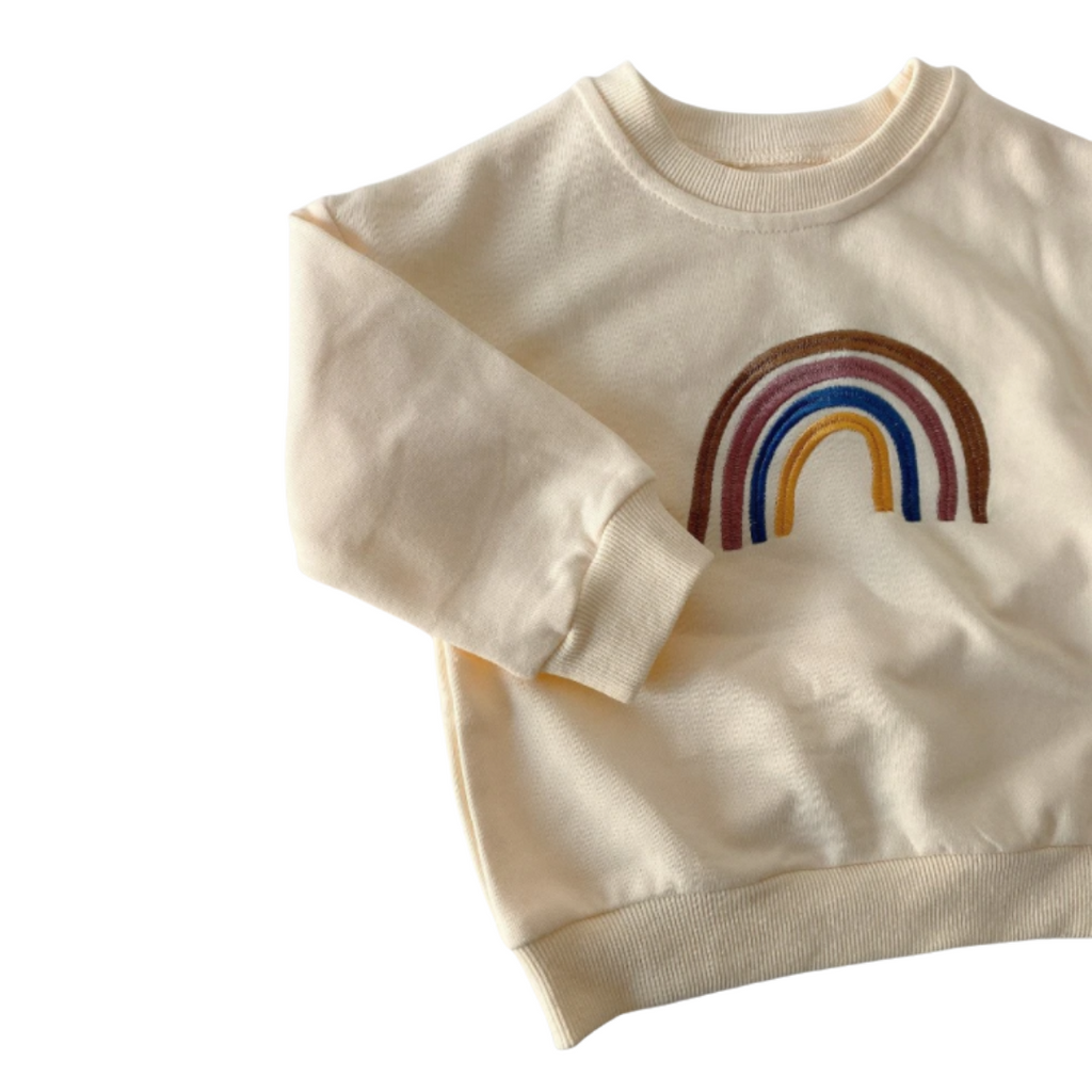 Rainbow Colourful Jersey | Beige