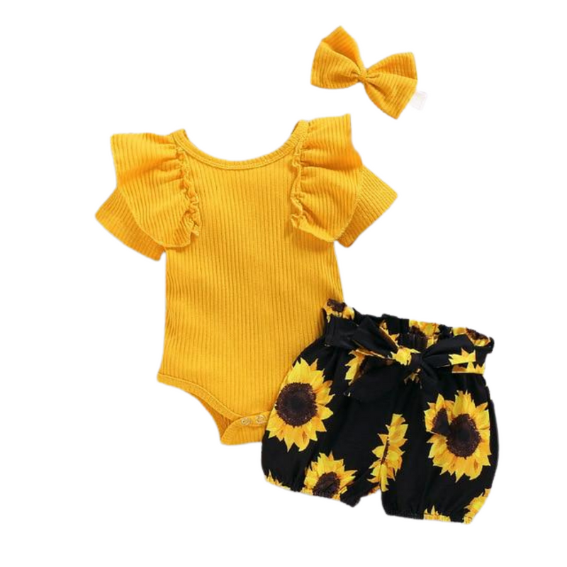 Sunflower Ribbed Set