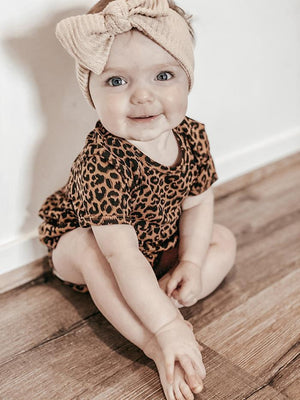 Anarkid -  LEOPARD BROWN FRILL BODYSUIT