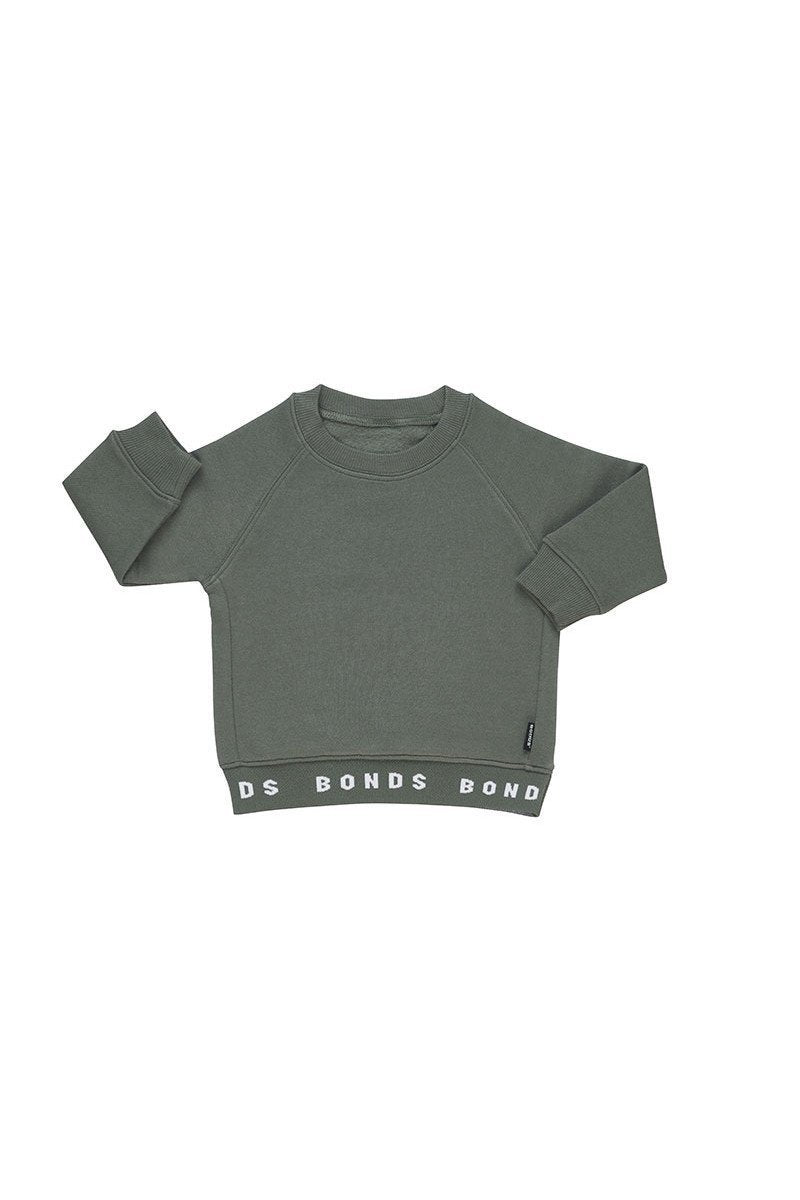BONDS - Logo Fleece Pullover | Dinosaur