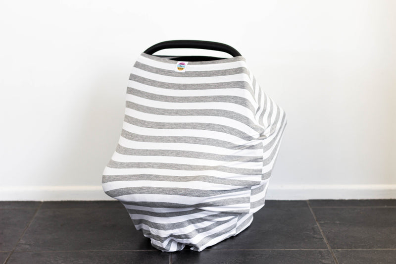 Hear Me Roar Kids - Grey Stripes - 5in1 Multi Cover | Capsule Cover + FREE Drawstring Bag