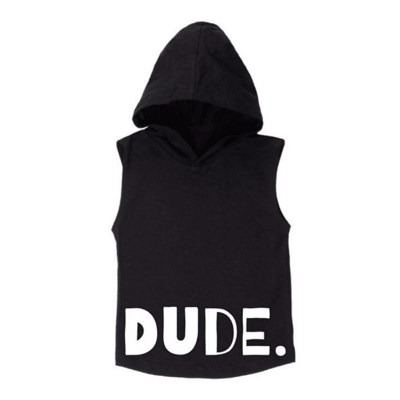 MLW By Design - DUDE Sleeveless Hoodie | Black