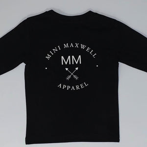 Mini Maxwell - Maxwell Apparel Tee | Black with White Print