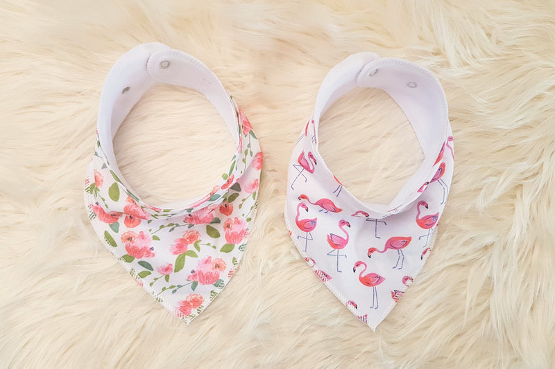 Hear Me Roar Kids - Flamingo | Bandana Bib Set
