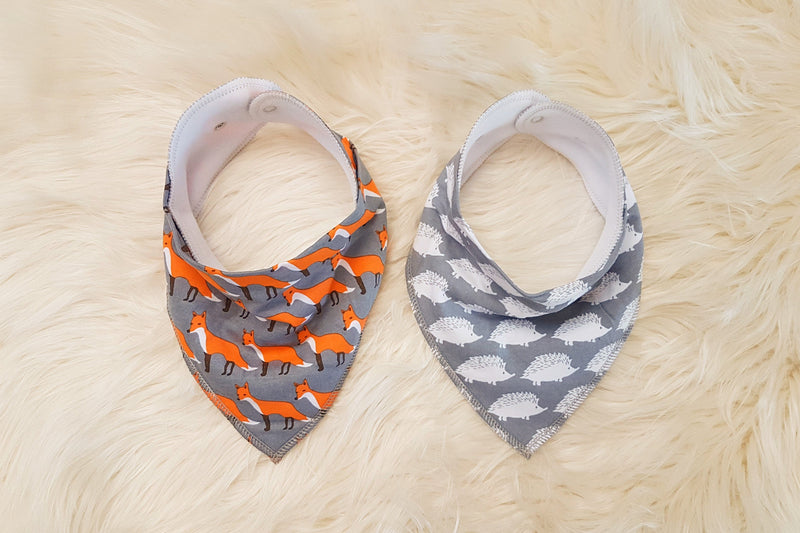 Hear Me Roar Kids - Grey | Bandana Bib Set