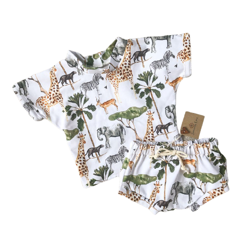 Summer Love Australia - Handmade 'Wild' Top & Short Clothing Set