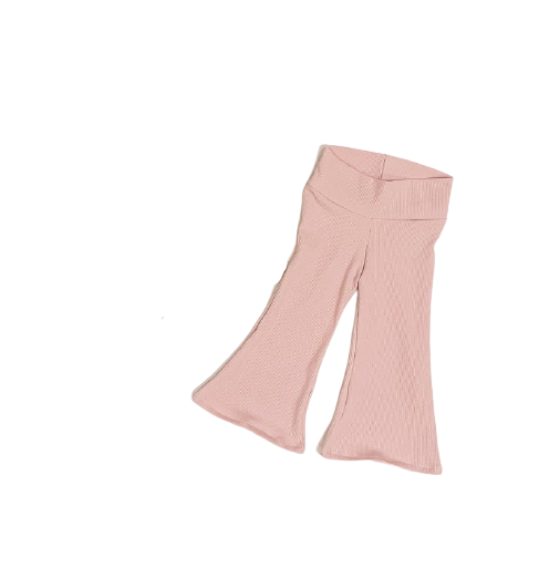 Summer Love Australia - Pink Ribbed Cotton Baby/Toddler Flares