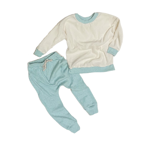 Summer Love Australia - Baby Slouch Set in Ribbed Cotton & Terry Towelling