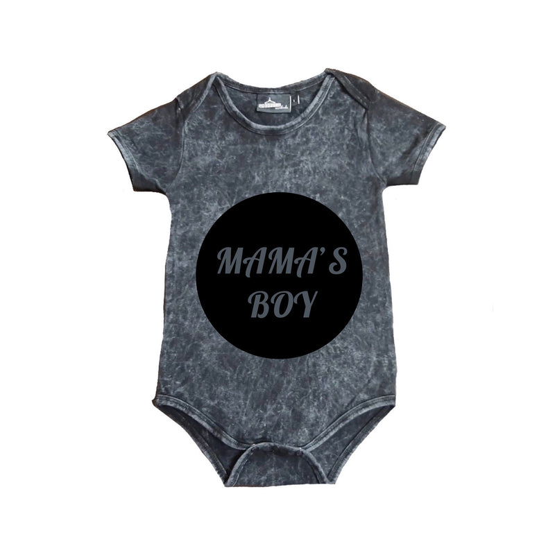 MLW By Design - Mama's Boy Stonewash Bodysuit | Black
